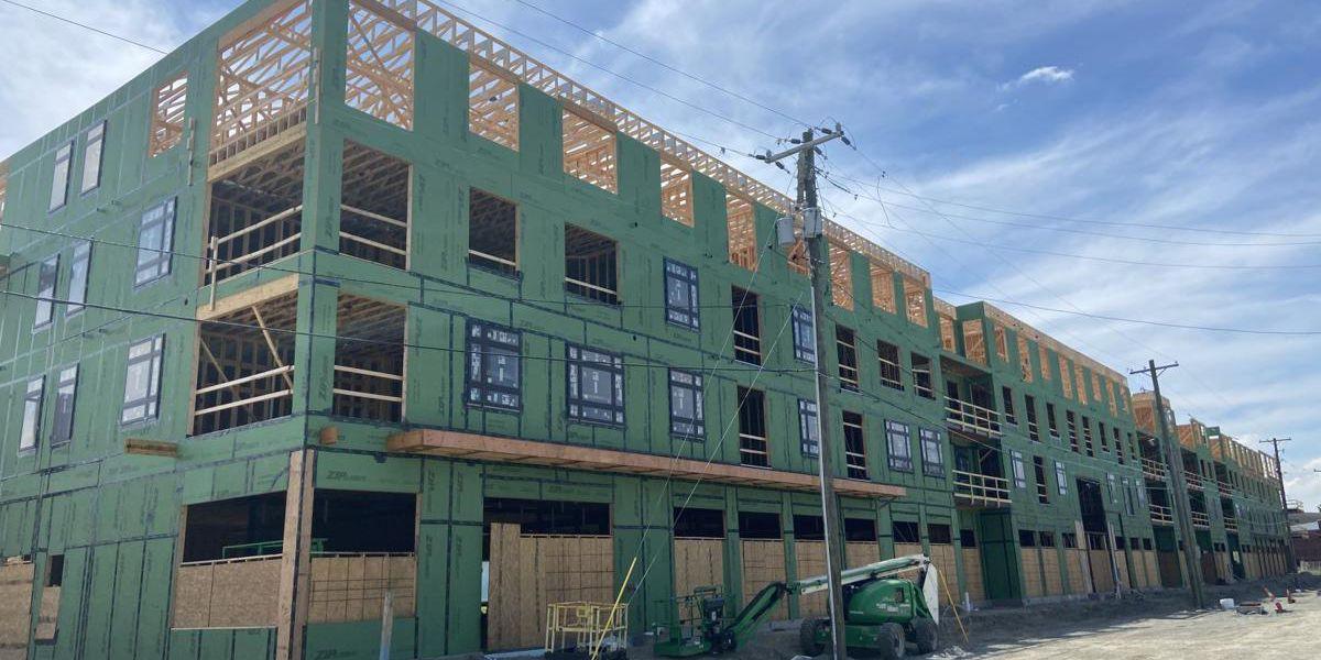 Multi-use development under construction in Clarksville