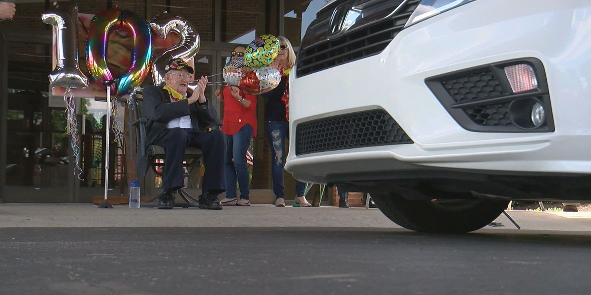 102-year-old local veteran celebrates birthday with drive-by parade