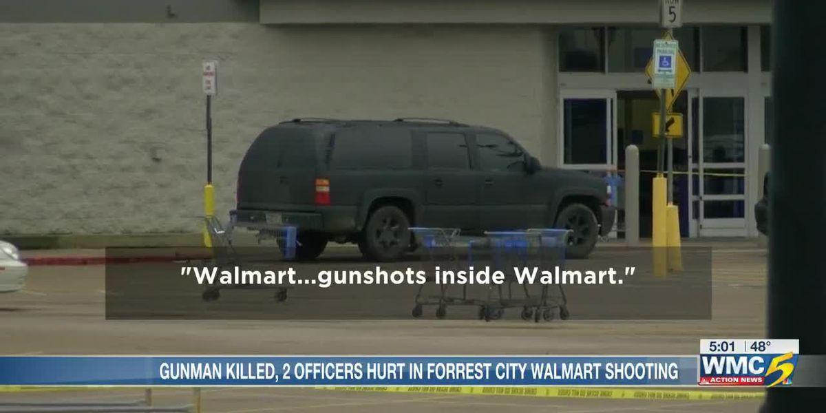 Suspect dead, 2 officers injured in shooting inside Forrest City, Arkansas Walmart