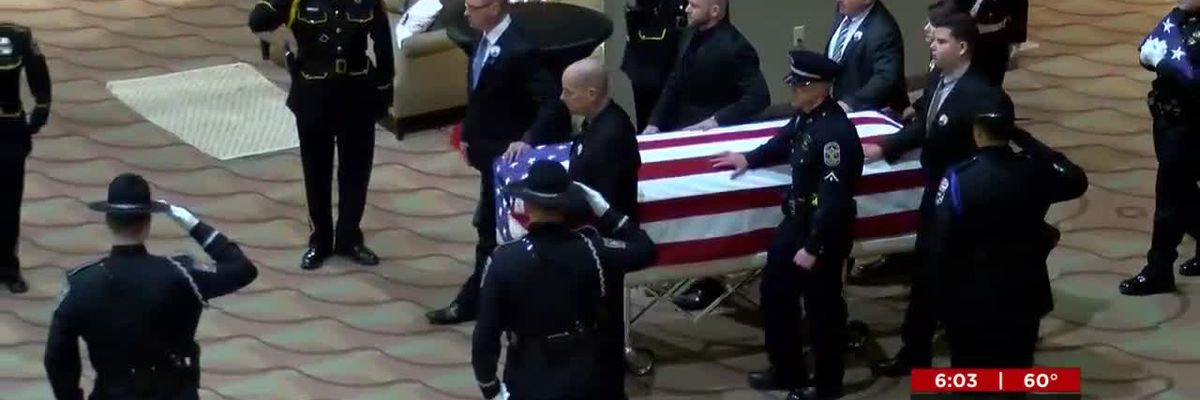 LMPD officers grieve at service following detective's Christmas Eve death