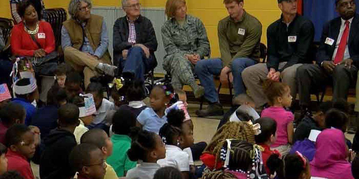 Elementary school honors veterans with special service