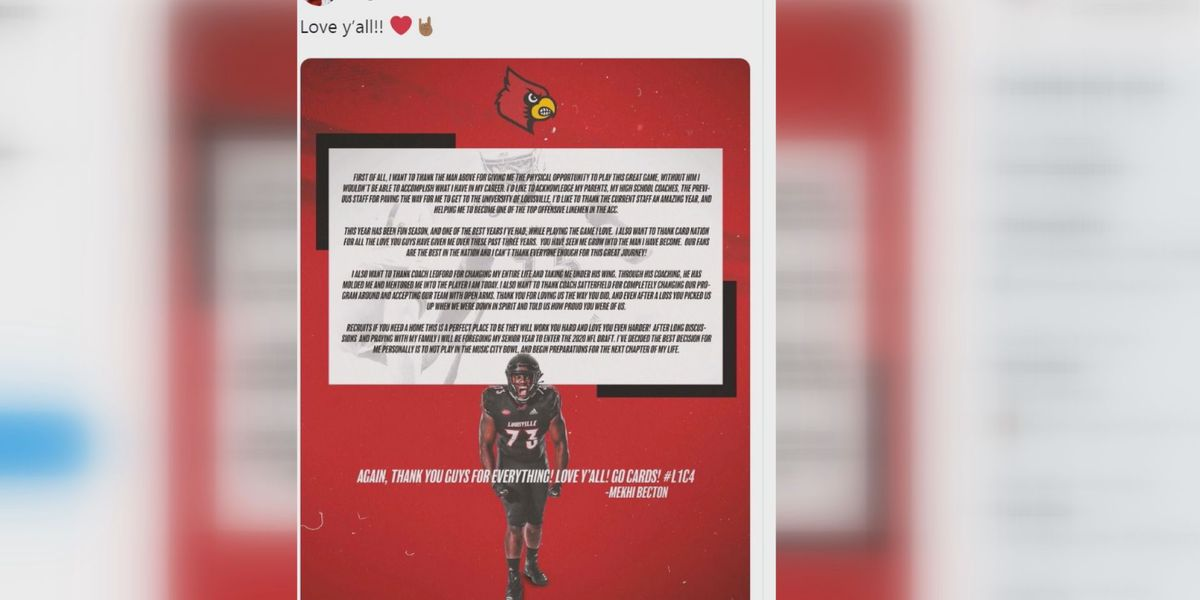 UofL's Becton turning pro, will not play in bowl game
