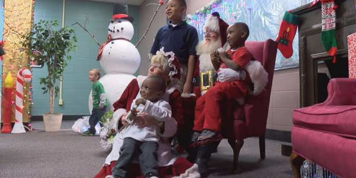 Santa gives house fire victims a reason to smile
