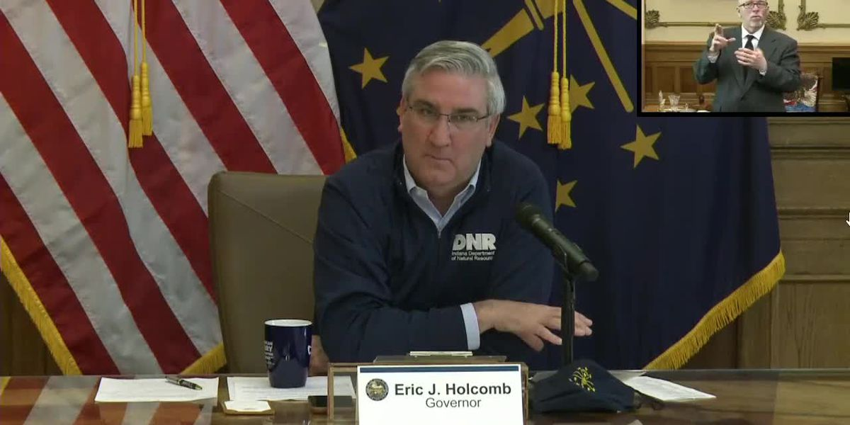 WATCH LIVE @ 2:30 PM: Indiana Governor Eric Holcomb's COVID-19 briefing