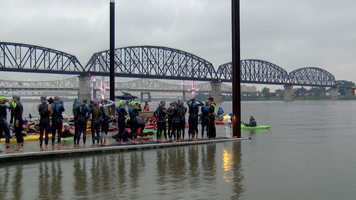 Rain doesn't stop Louisville Ironman competitors