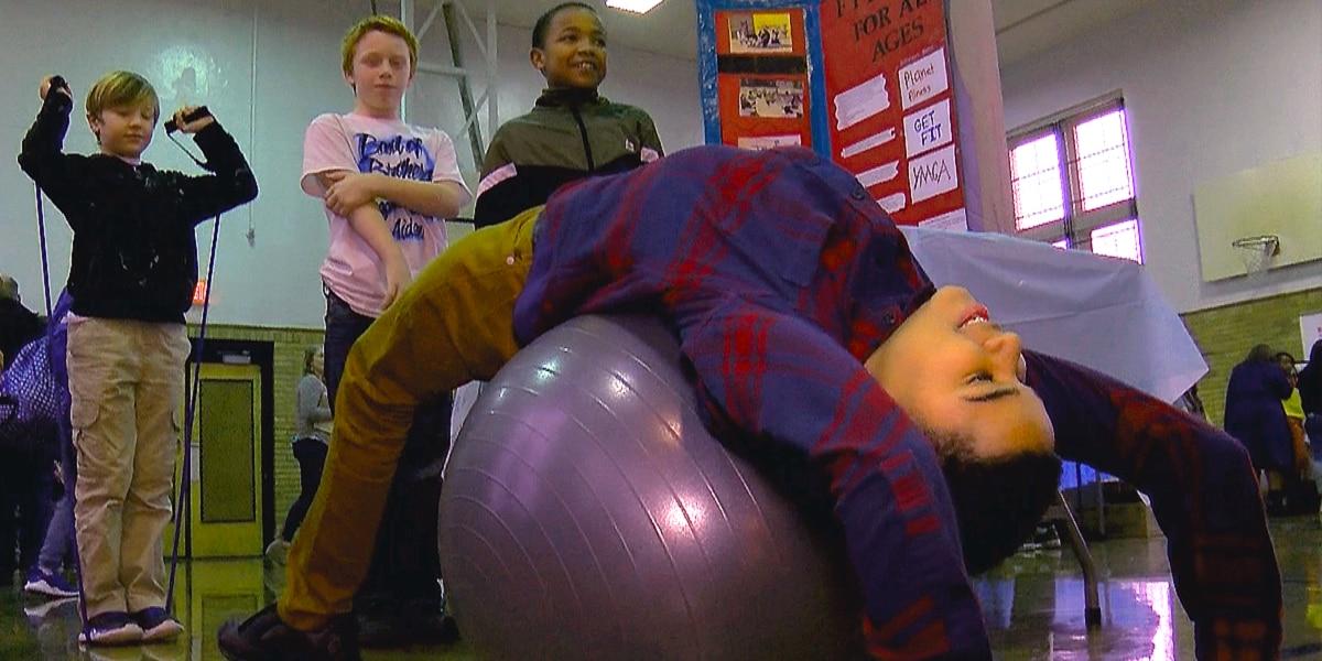 Meyzeek Middle School transforms gym for student-run health fair