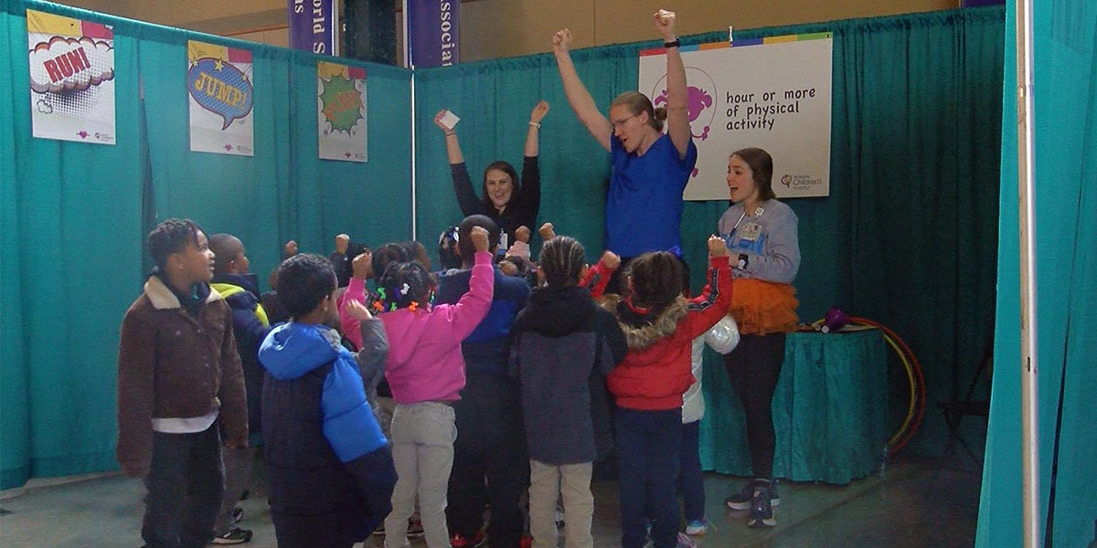 Slugger Field transformed into 'hospital' for kindergarteners to learn about wellness