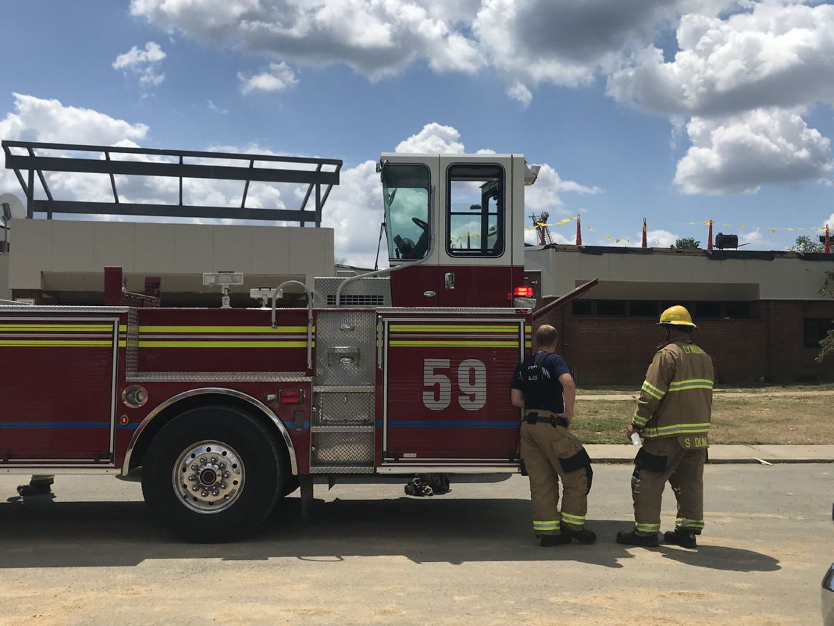 Smoky roof fire on JCPS building quickly extinguished