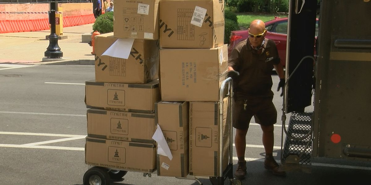 UPS donates thousands of PPE masks to Metro Council