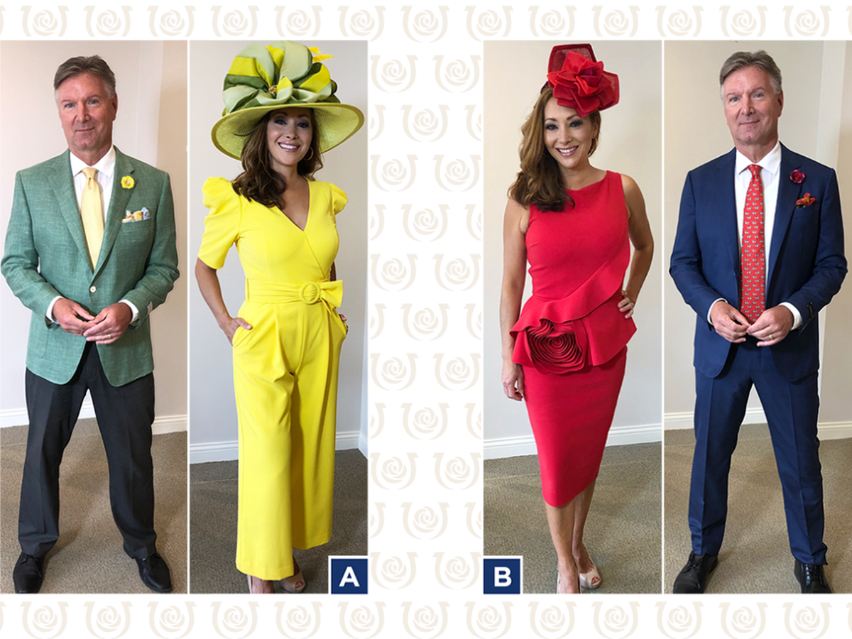 The Derby Dress Contest is on! Pick Shannon and John's outfits