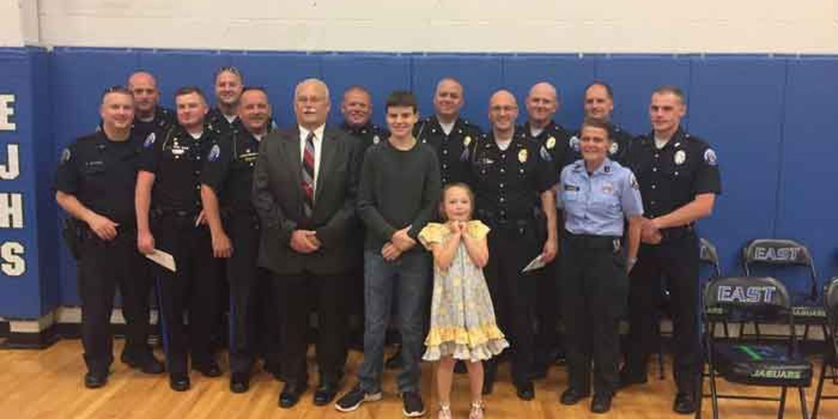 Police family attends fallen officer's son's graduation