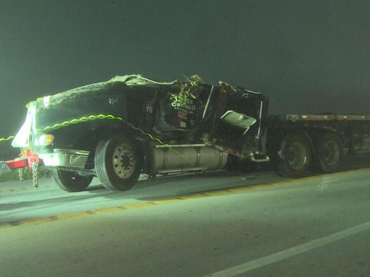 Semi hauling lumber overturns on Kentucky roadway, killing 1