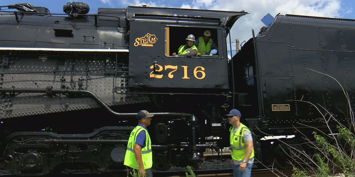 Historic 450-ton locomotive heading to new home in Eastern Kentucky