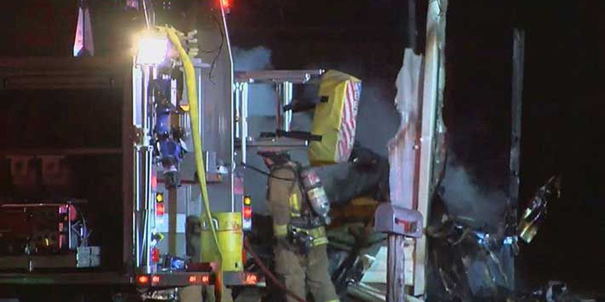 Mobile home destroyed by fire in southwest Louisville