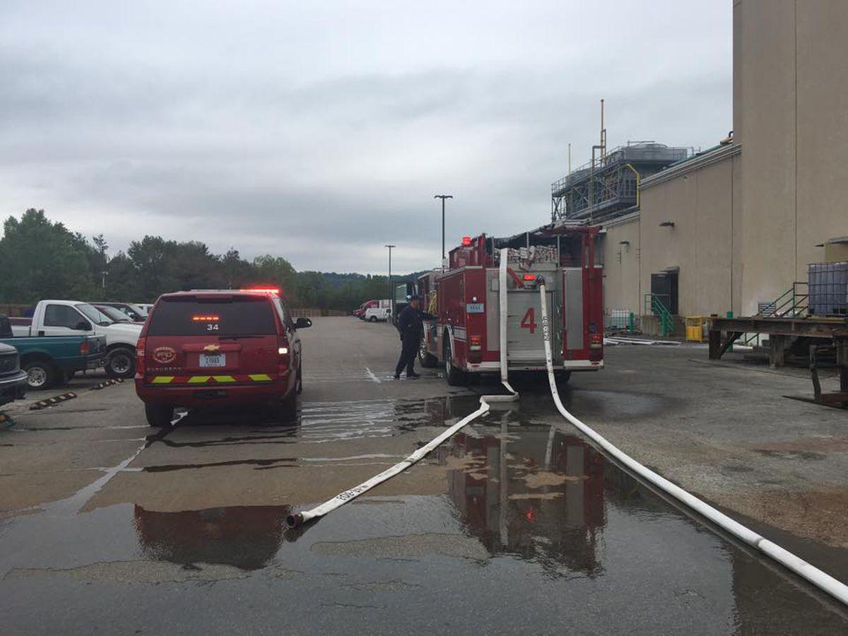 New Albany officials respond to fire at Sazerac facility