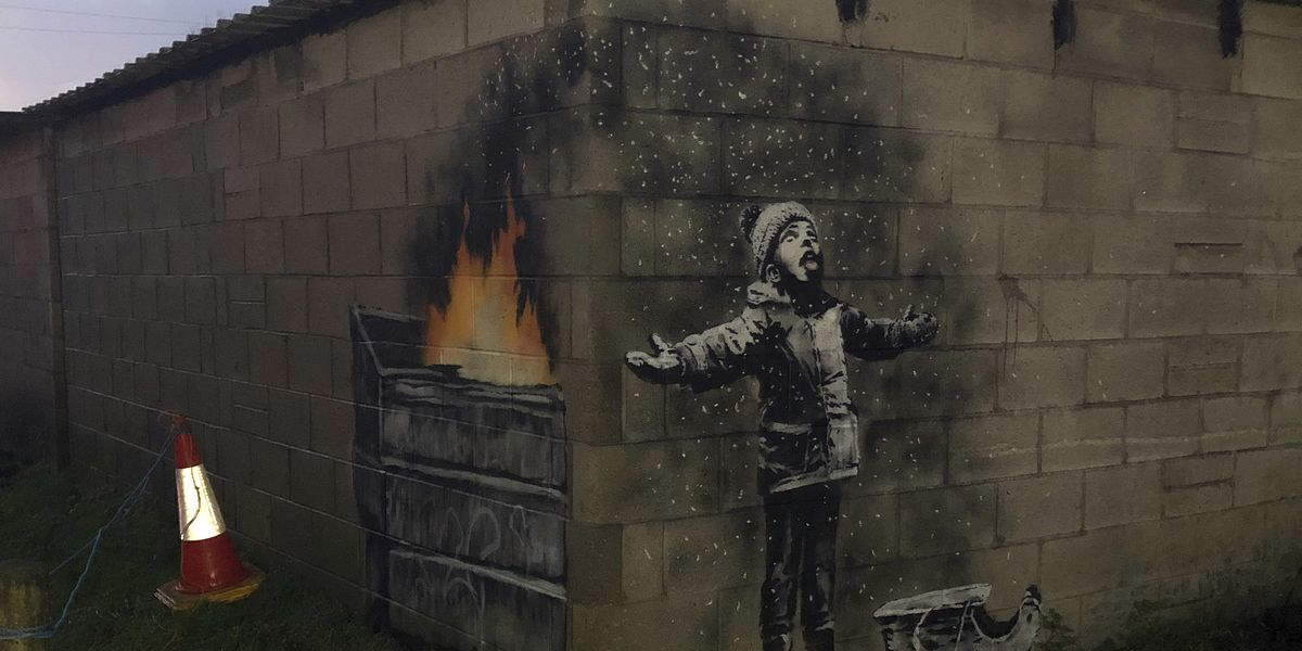 Banksy's new artwork in Wales: A comment on air pollution?