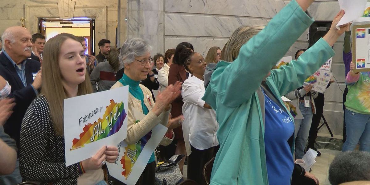 Activists rally for LGBTQ rights in Frankfort