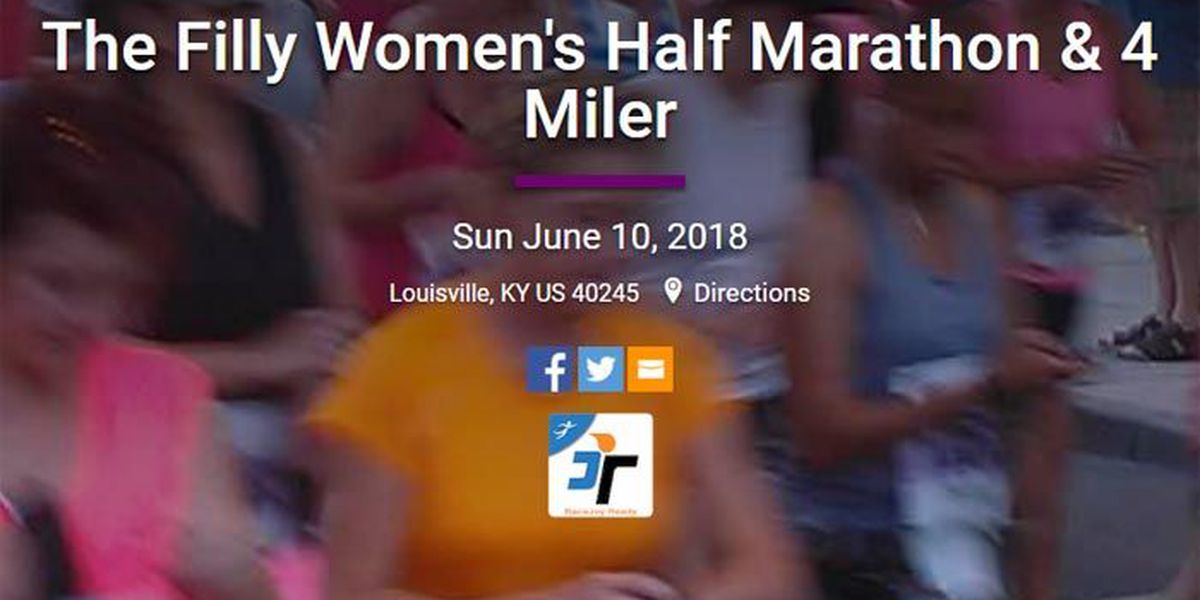 Filly Filly! Women's half-marathon & 4-miler scheduled for June 10