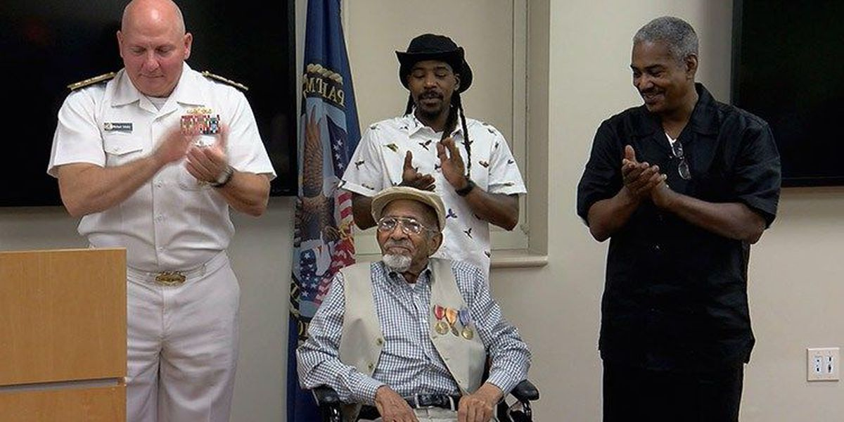WWII vet honored decades after war