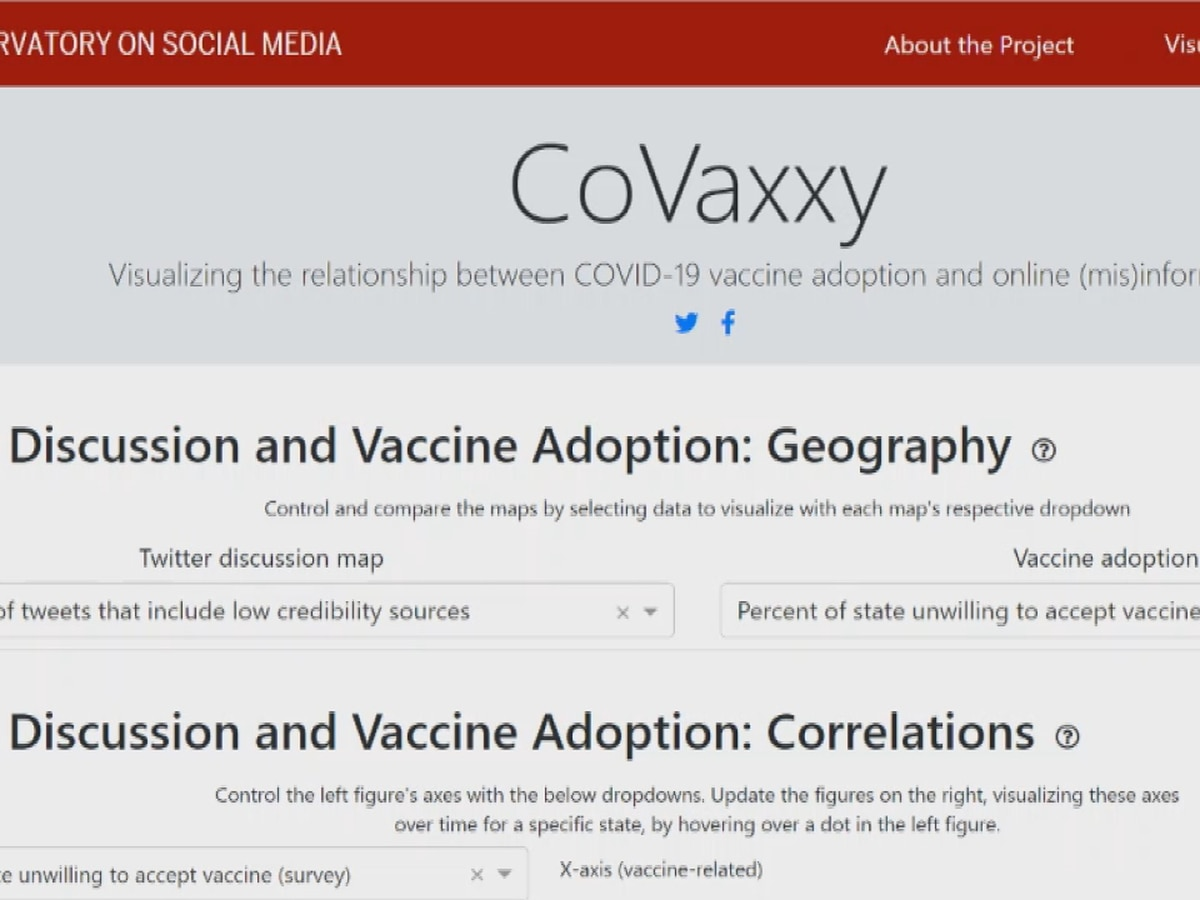 IU researchers visualize social media misinformation impact on vaccine hesitancy