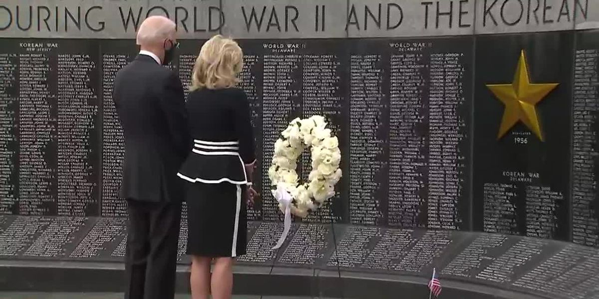 Biden, wife visits veterans memorial for first appearance in months