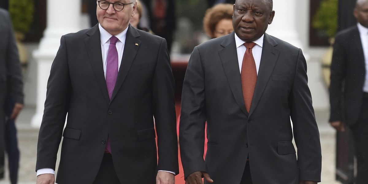 South African president praises German investment