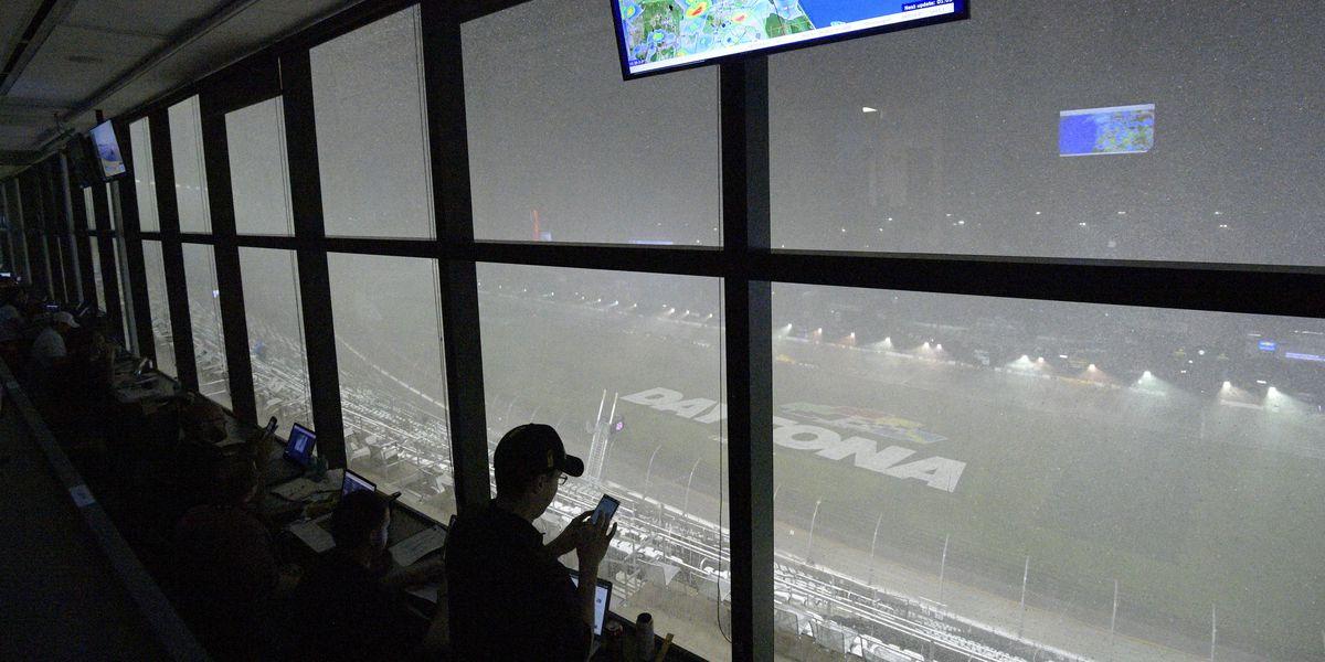 Rain postpones Daytona 500, dampening event and Trump's visit