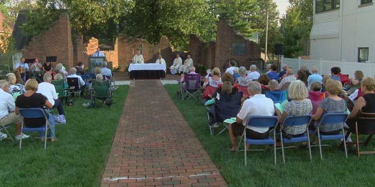 Outdoor mass honors first Catholic church in New Albany