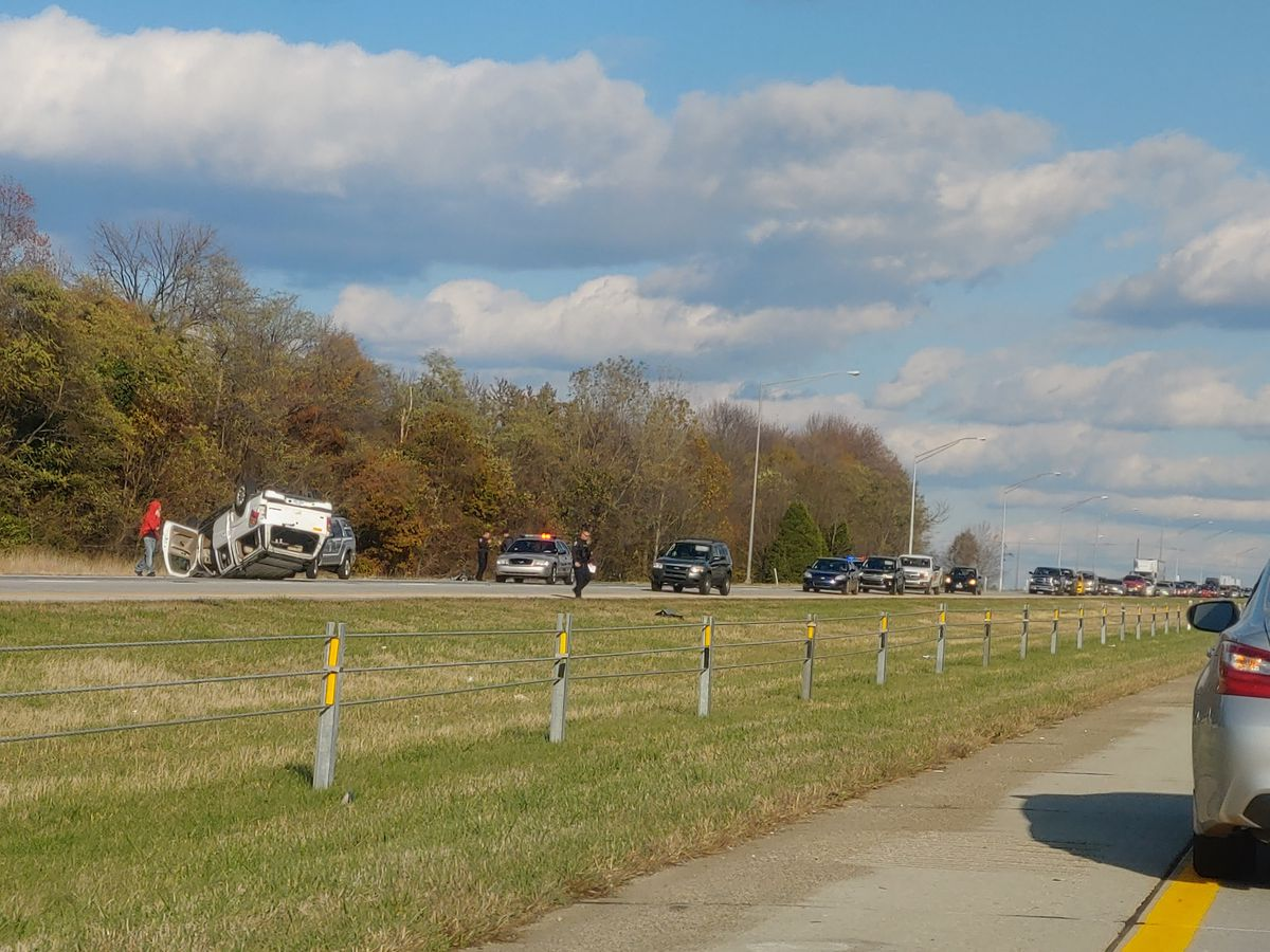 Interstate 265 Southbound back open after vehicle rollover