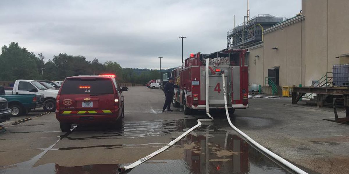 New Albany officials respond to fire at Sazerac facility