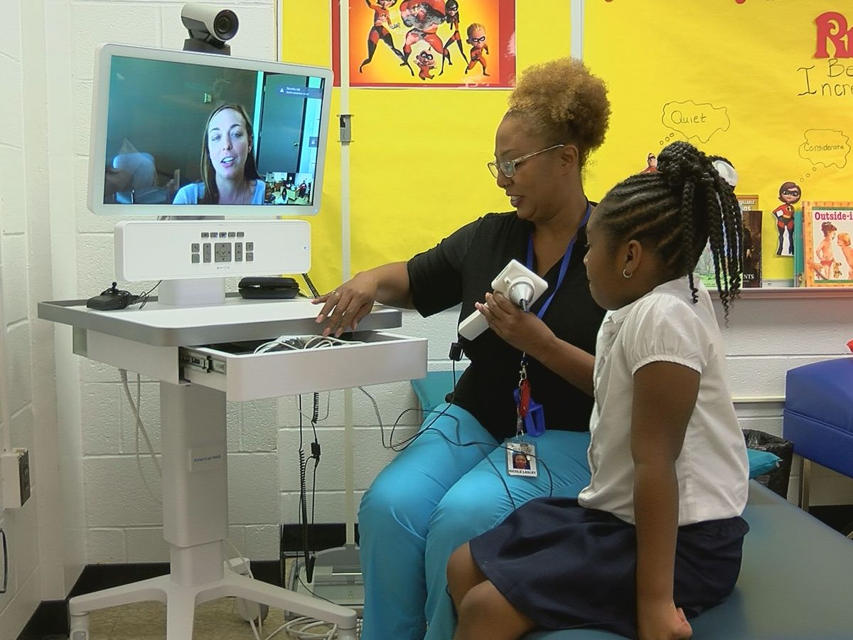 An inside look at how telemedicine is helping students at school