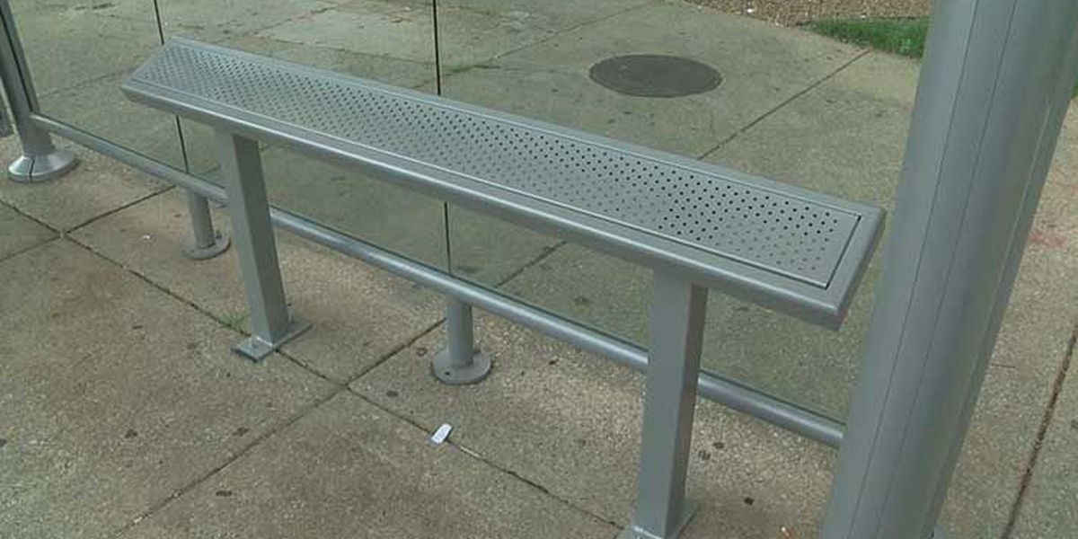 Some TARC bus stop benches replaced with leaning bars