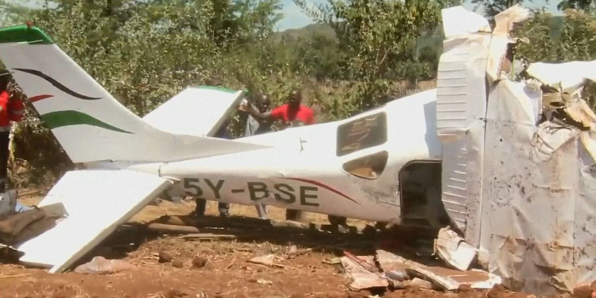 Plane Crashes in Makutano Forest in Londiani, Kericho