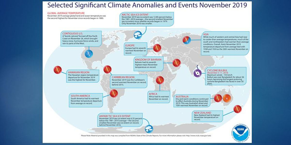Earth just had its 2nd hottest November on record