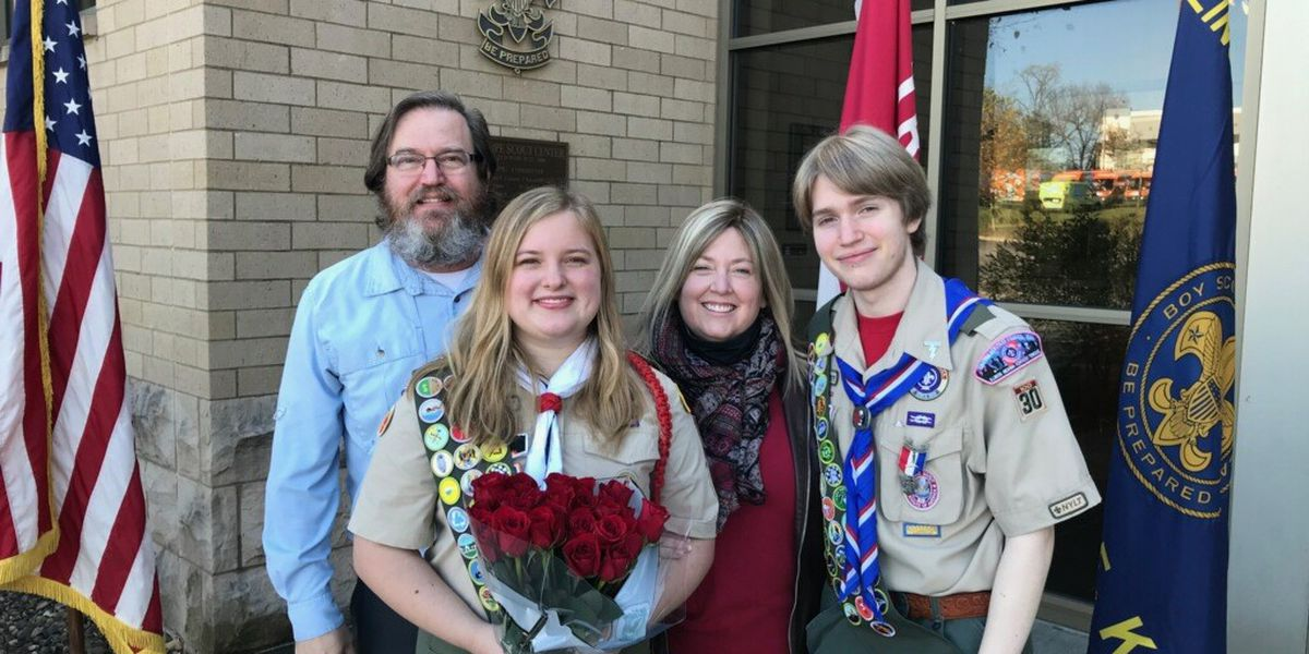 Freshman from Louisville becomes first female Eagle Scout in Kentucky
