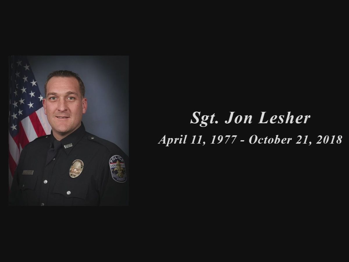 Businesses rally in memory of beloved LMPD officer Jon Lesher