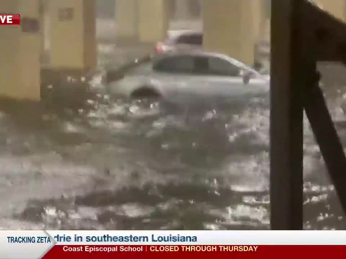 Cars underwater at the Golden Nugget Casino
