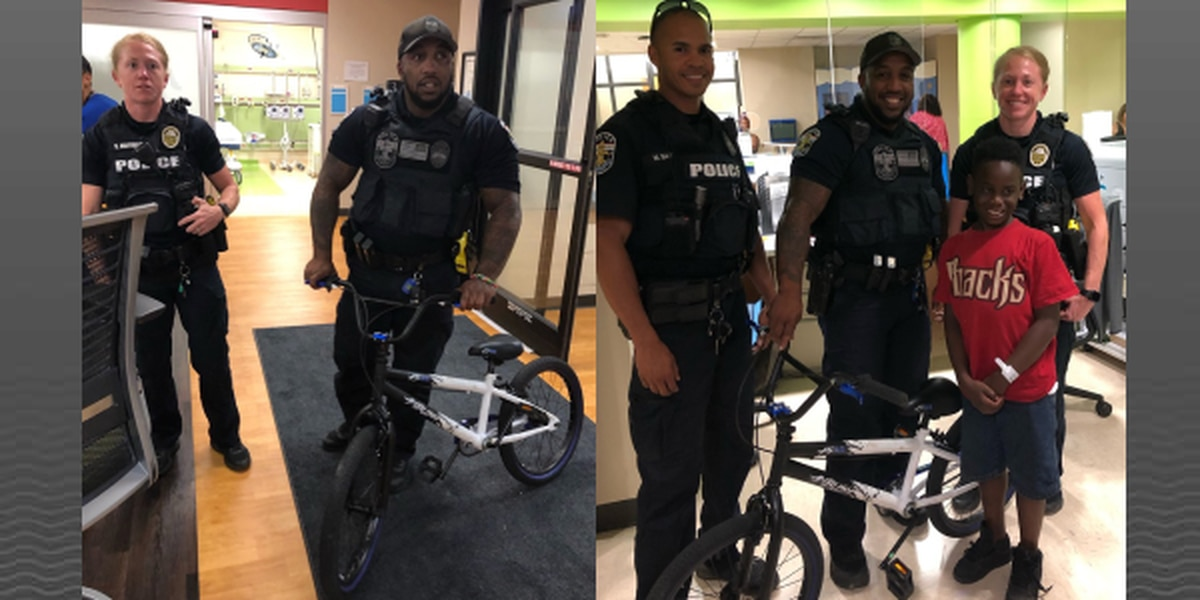 LMPD officers recover 7-year-old's stolen bike, return it to him at Norton Children's Hospital