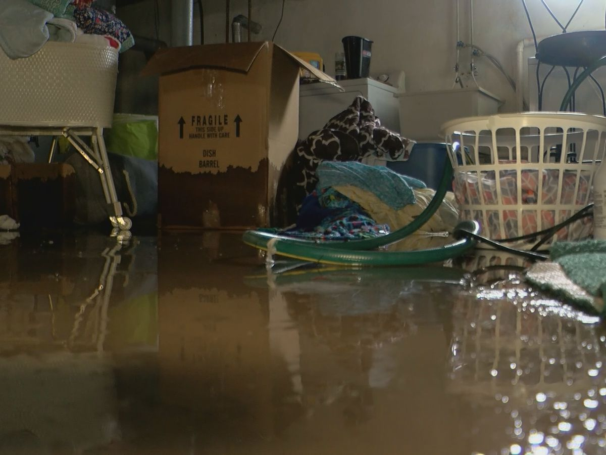 Homeowners work to cleanup after flooding