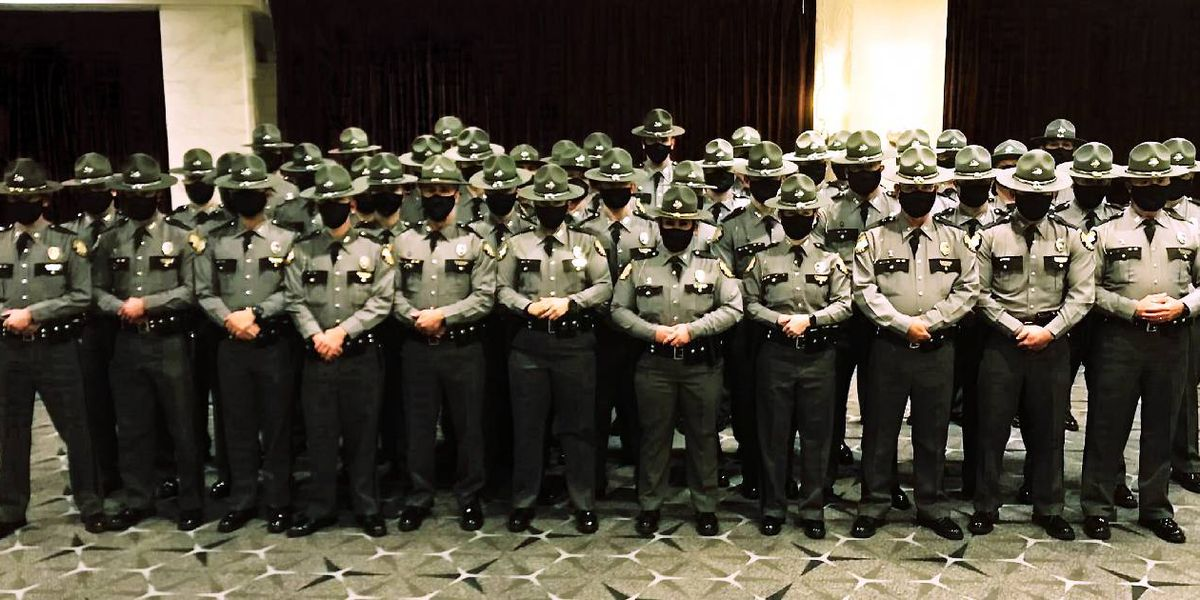 Kentucky State Police troopers providing security at Biden's inauguration