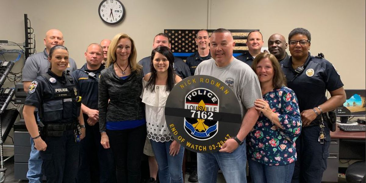 End Of Watch display gifted to LMPD's First Division by fallen KSP trooper's mother