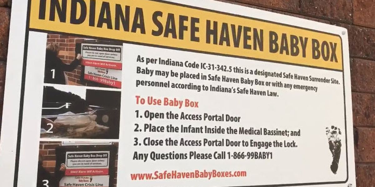 Every state has a Safe Haven law but not every state has Safe Haven Baby Boxes; Indiana does