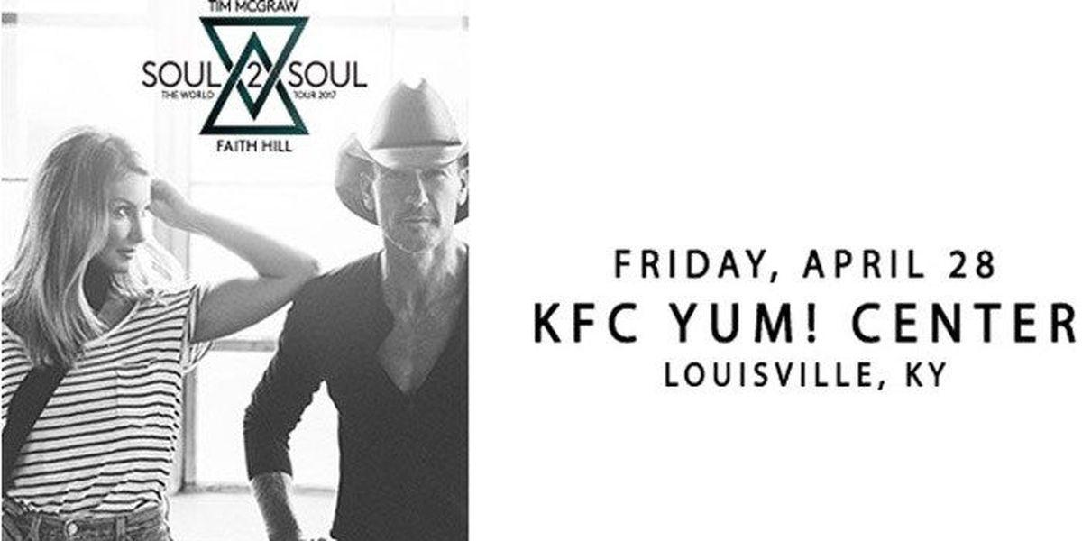 Tim McGraw, Faith Hill to perform at KFC Yum! Center
