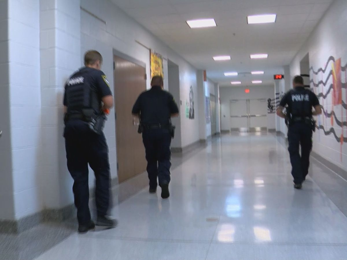 Active shooter drill held at Scottsburg Middle to prepare for 'that day'
