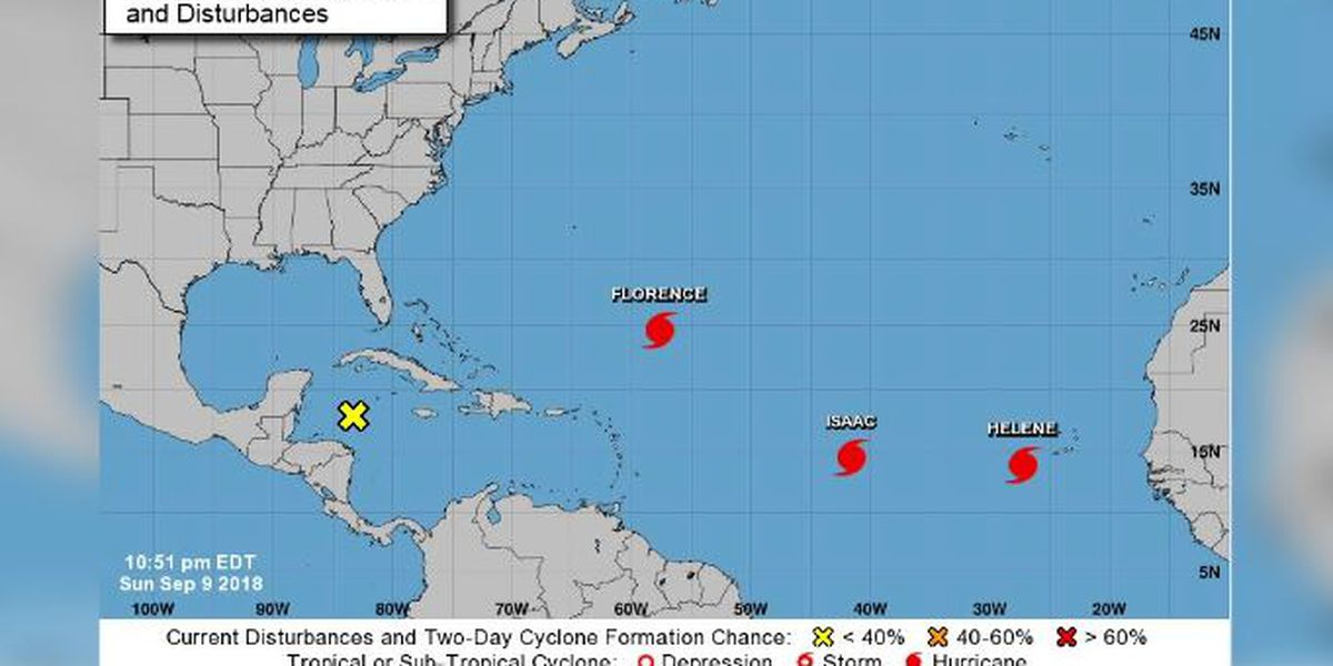 Isaac becomes 3rd hurricane sweeping through Atlantic