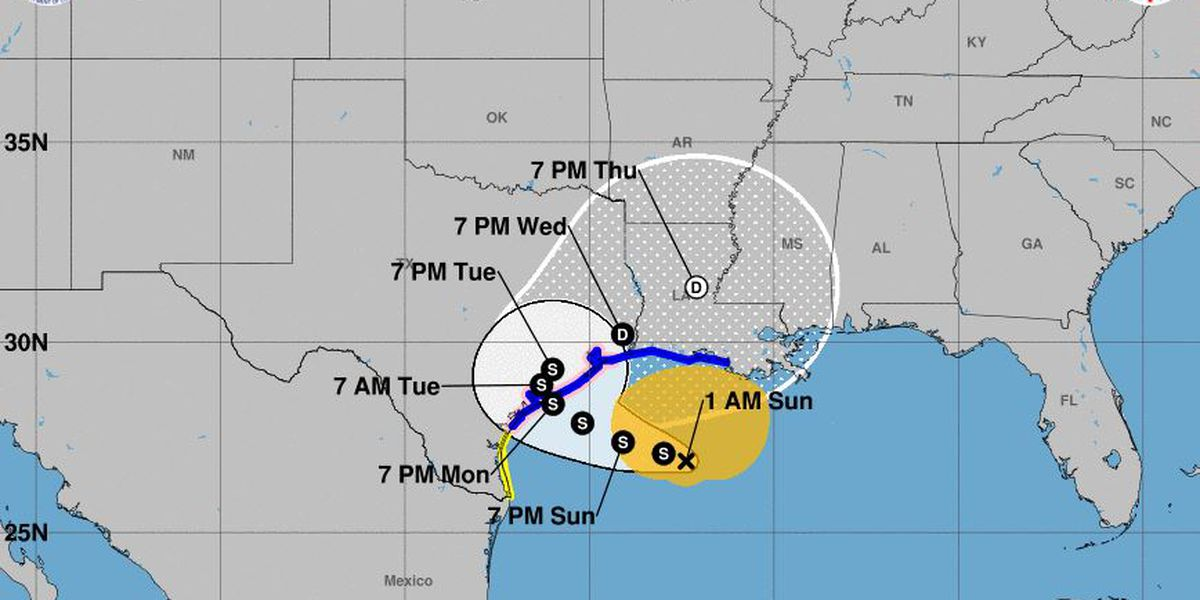 Tropical Storm Beta churns slowly toward Texas, Louisiana