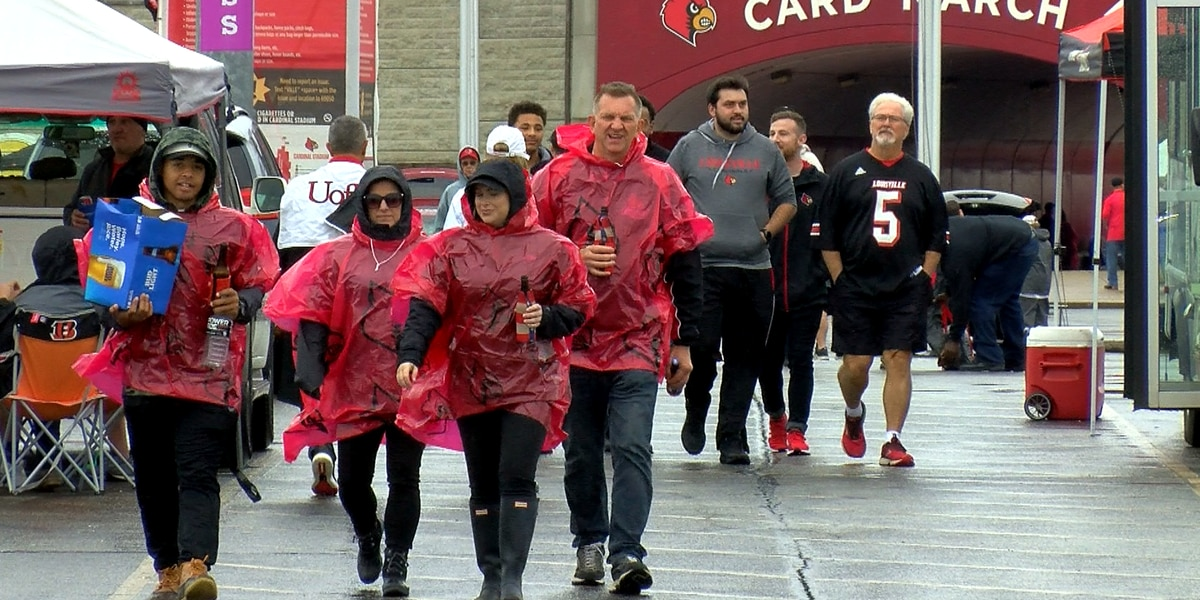 New stadium name and lots of rain, big talkers of Saturday's tailgate