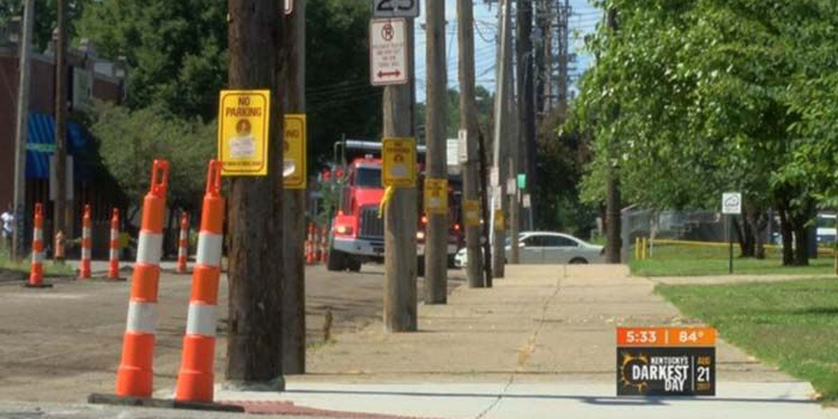 Paving project comes to downtown Louisville