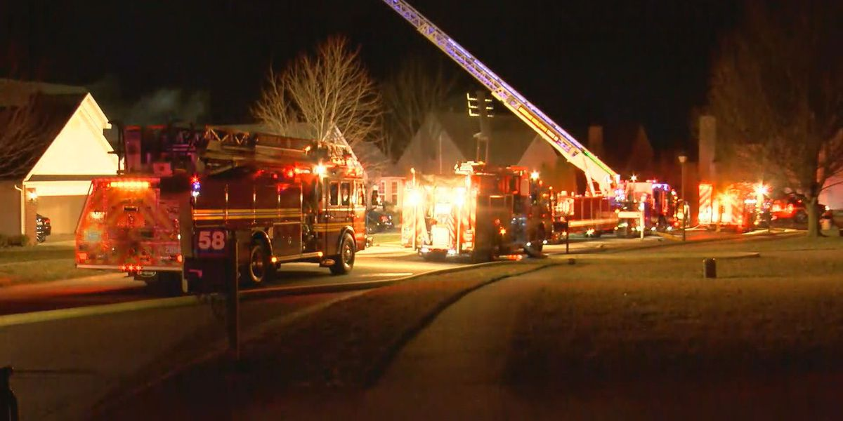 Home catches on fire in east Louisville
