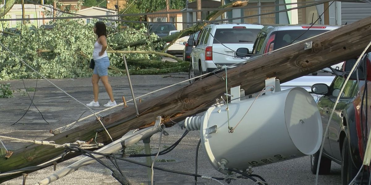 Louisville residents came together for a storm cleanup